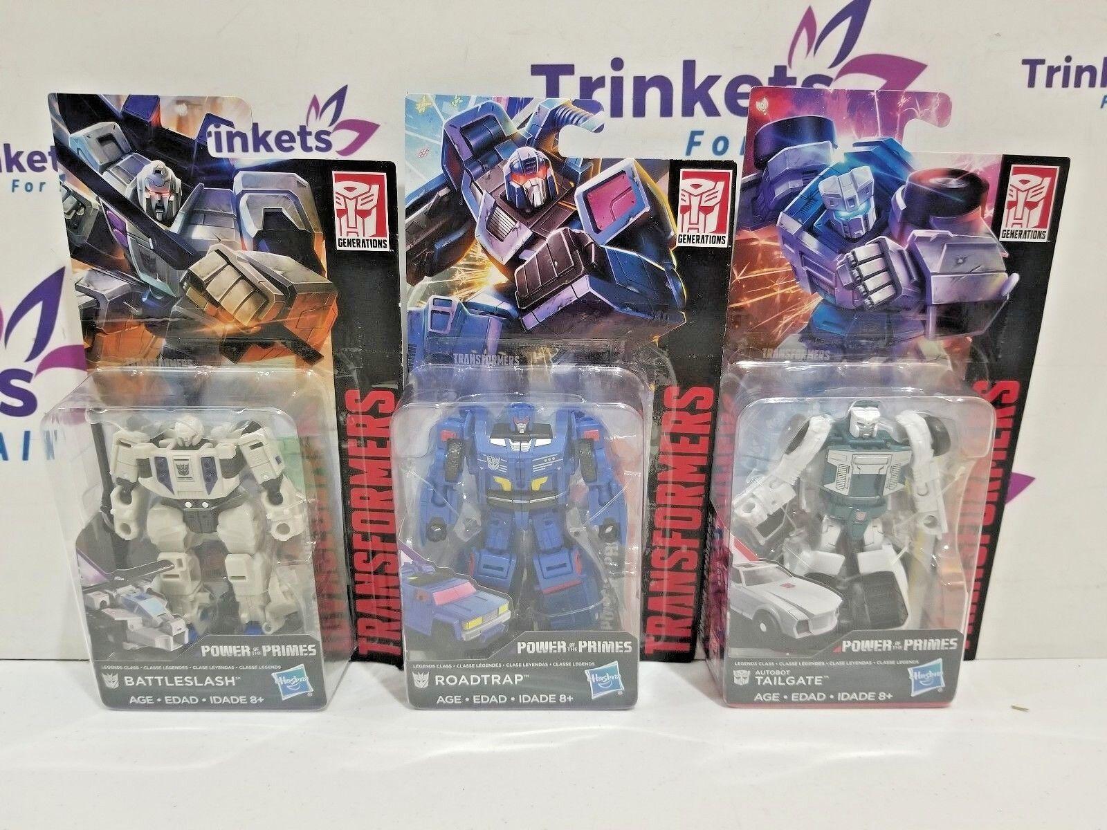 Transformers Power of the Primes Legends Class - Battleslash Roadtrap & Tailgate