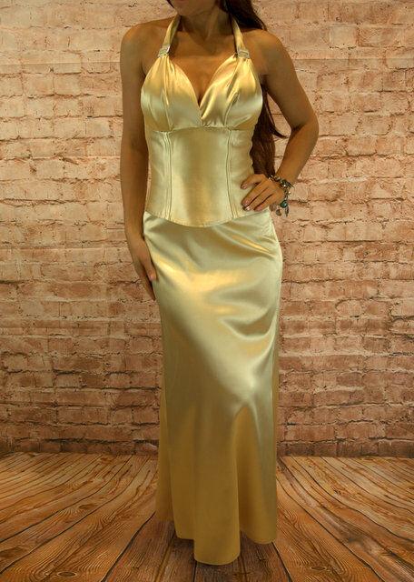 Abendkleid Zweiteiler Corsage Rock Abschlussballkleid Maxikleid Kleid Gr, 34-44
