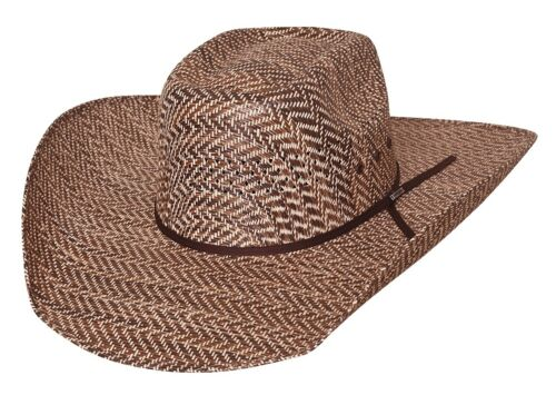 New Bullhide Hats Rodeo Round-Up Collection Roughstock 50X Brown Cowboy Hat
