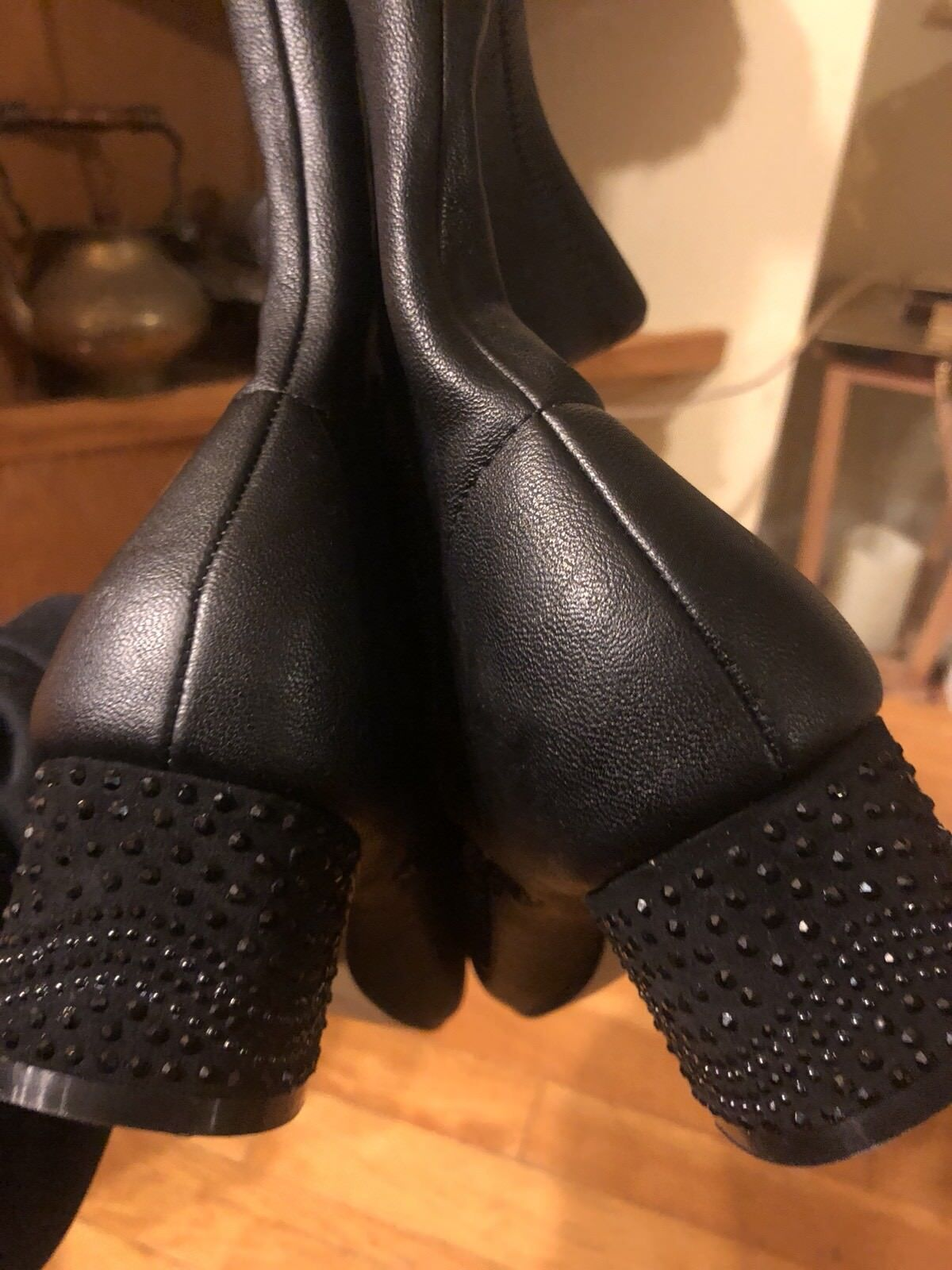 Badgley Mischka American Glamourös Strass Absatz Stiefel Größe 7
