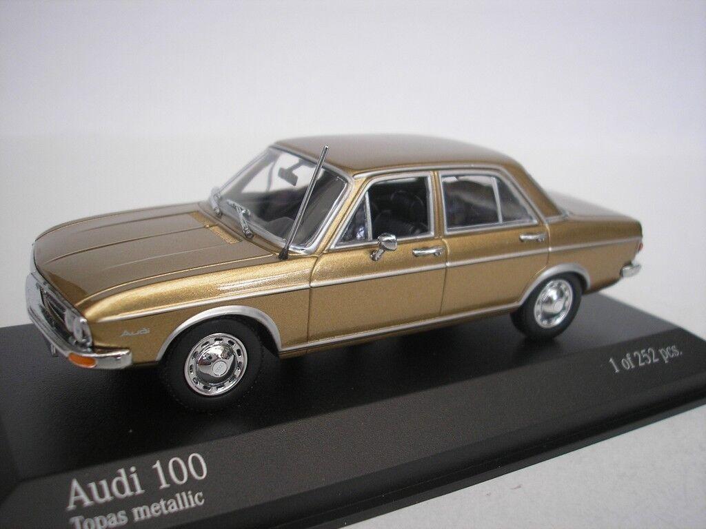 Audi 100 1969 topacio metalizado 1 43 Minichamps 430019160 nuevo