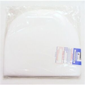 NEW WHITE PRAM CRIB BABY ROUNDED SAFETY PILLOW 31x27x3  for pram sets