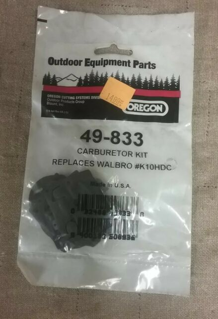 Oregon 49-833 Carburetor Rebuild Kit Lawn Mower Replacement Part