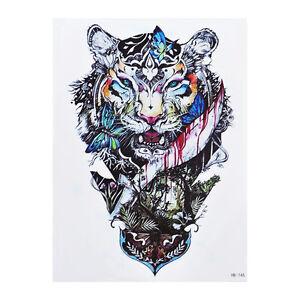 Löwe Tattoo Einmal Tattoo Bunt Hb745 Für Oberarm Und Körper Ebay