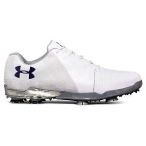 Nouveau-Homme-Under-Armour-Spieth-2-Chaussures-De-Golf-Blanc-Acier-Taille-Choisissez-votre-taille