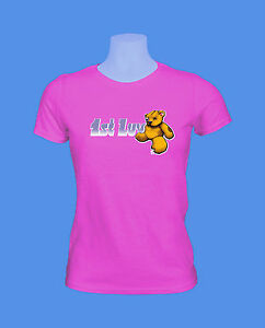 Girlie-Damen-Shirt-Maedchen-1st-Luv-First-Love-Teddy-move2be-pink-rosa-S-M-L