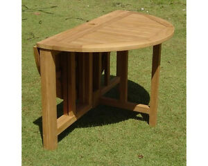 48 ROUND BUTTERFLY TABLE - A GRADE TEAK GARDEN OUTDOOR DINING FURNITURE PATIO