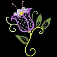 Jacobean Lace Flowers - 36 Machine Embroidery Designs (azeb)