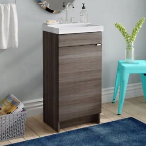 "Fraizer Teak 17/"" Single Bathroom Vanity Set"