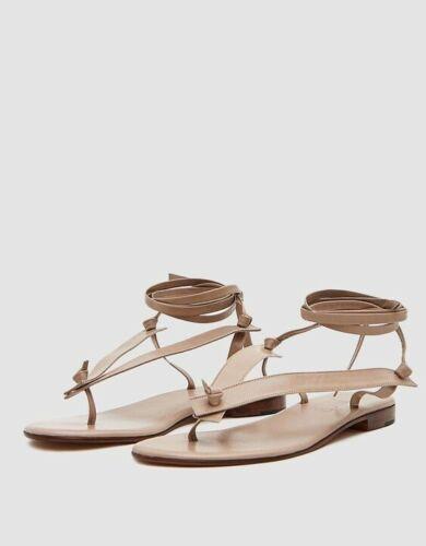 Martiniano Bibiana Leather Flat, Beige, Size 38, L