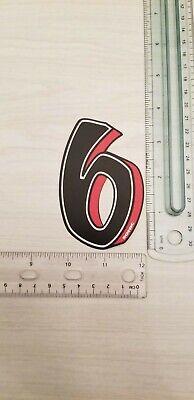 """old school ZeroNine BMX Black number plate number # 6 or 9 GT Redline NOS 4 1//2/"""""""