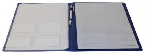 Schreibmappe Konferenzmappe Aktenmappe Tagungsmappe PP A4 blau mit Schreibblock