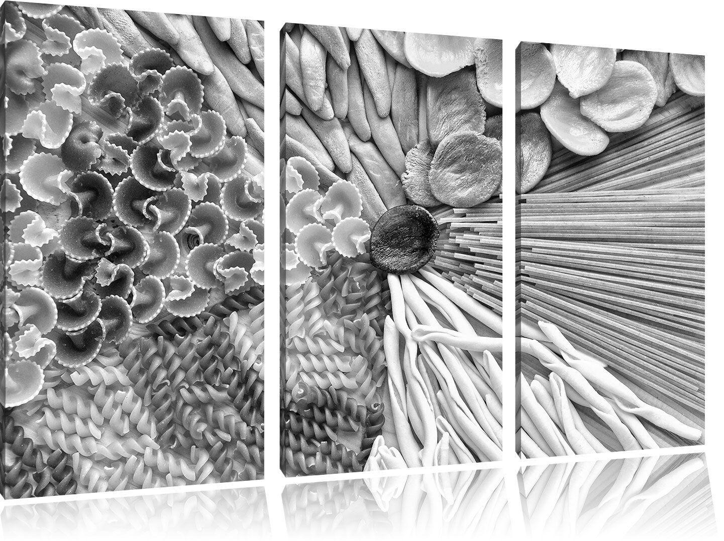 Raccolta Von Coloreeati Tagliatelle Arte B&w 3-Teiler Quadro su Tel Decorazione