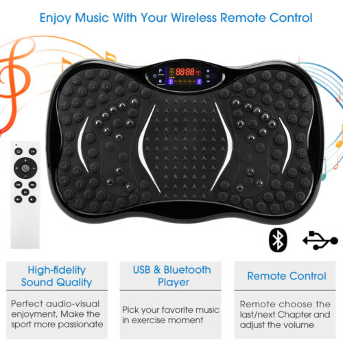 Crazy Fit Vibration Plates Fitness Exercise Machine Bluetooth Oscillating Power