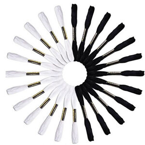 24-Pcs-Embroidery-Thread-Craft-Cross-Stitch-Floss-Black-and-White-Color