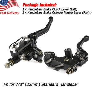 CNC-Universal-Motorcycle-7-8-039-039-Brake-Clutch-Master-Cylinder-Lever-Set-Reservoir