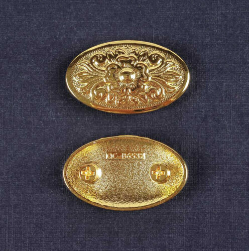 5pcs 43*26MM Gothic Oval Celtic Flower Leathercraft Nickel Conchos Screw back