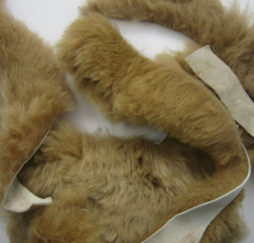 VARIOUS SIZES 100g SHADES of  CAPPUCINO SUEDE BACKED FUR REMNANT PIECES