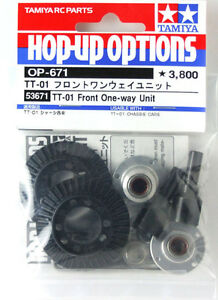 Tamiya 53671 RC TT-01 Front One-Way Unit Set For TT01E/TT02/TT02B Hop Up Parts