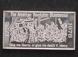 1971-Kennedy-Mint-Give-Me-Liberty-or-Give-Me-Death-Silver-Art-Bar-KEN-25-P1689