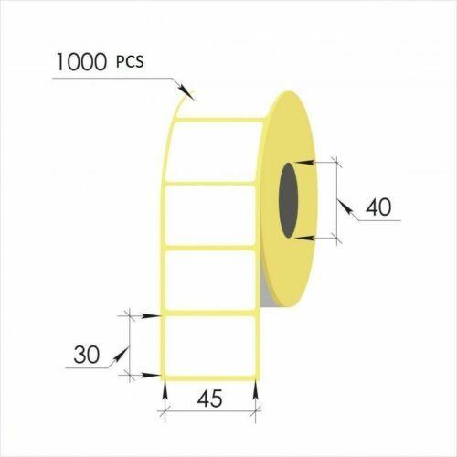 2000 x Blank Gefrierschrank Lebensmittel Selbstklebende Klebeetiketten 45mm...