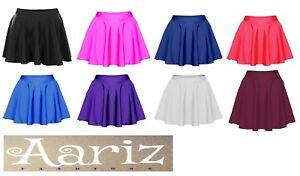 Nylon-Lycra-Dancewear-jupe-circulaire-Filles-Enfants-Ballet-Danse-Fancy-Party-Cadeau