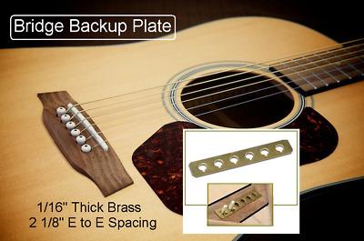 GuitarTechs BRIDGE BACKUP PLATE Acoustic Guitar Repair Project PlateMate Tool