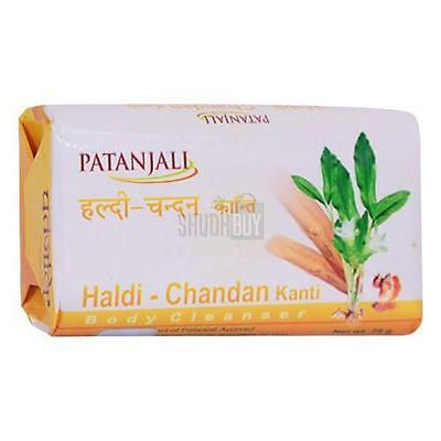 bathing Soap 150 Gm Patanjali Haldi Chandan Kanti Body Cleanser Pack Of 3