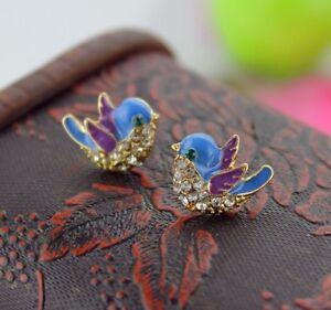 BJ-Elegant-Retro-Drop-Dangle-Alloy-Enamel-Lovely-bird-earrings-Women-jewelry