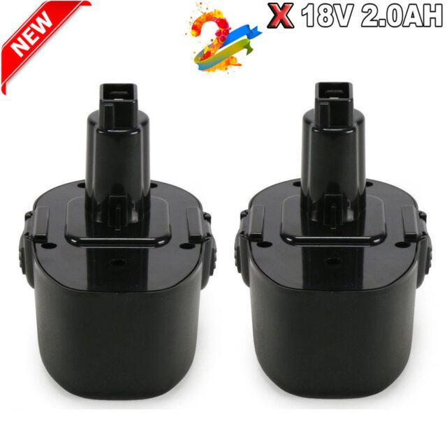18V Battery for BLACK /& DECKER CD180K2 CD18CBK CD18C CD18CAB PS145 Ni-MH