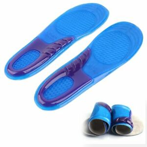 Schuheinlagen-Fussbett-Gel-Einlegesohle-Schuhe-Silikon-Einlagen-Fersenkissen-Blau