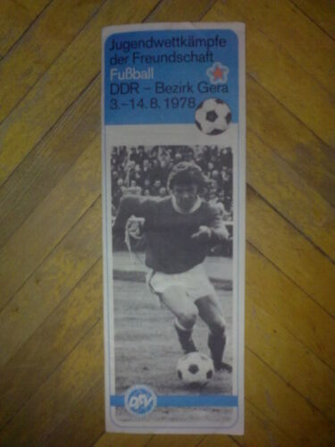 Programme under tournament 1978 in Germany USSR, CSSR, Poland, Romania, Cuba