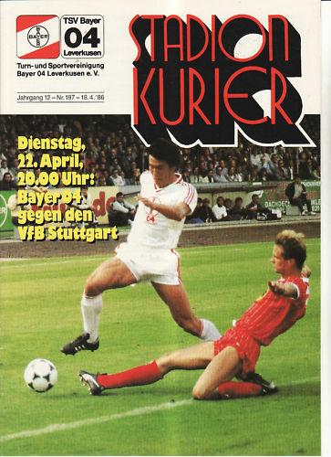 BL 85//86 Bayer 04 Leverkusen VfB Stuttgart