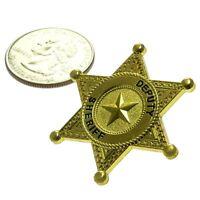 Generic Universal Deputy Sheriff Mini Badge Shield Police Lapel Hat Pin