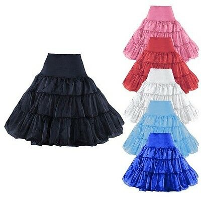 Knee Length Skirt Slips Petticoat crinoline underskirt pannier bustle 7 Colors