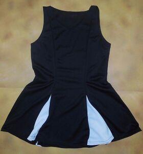 NWOT-Dance-CHEERLEADER-COSTUME-Dress-Princess-Line-Black-Girls-Med-10C