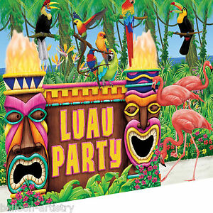 Tropical-Tiki-Totems-Luau-Island-Summer-Party-Scene-Setter-Wall-Decorating-Kit
