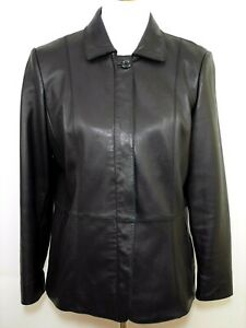 PRESTON-amp-YORK-Women-039-s-Mp-Black-Lamb-Skin-Leather-Zipped-Jacket-Coat-SUPER-SOFT