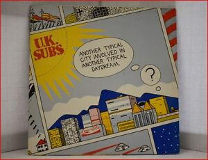 Uk Subs Another Typical City Lp Vinyl Record 1983 Great