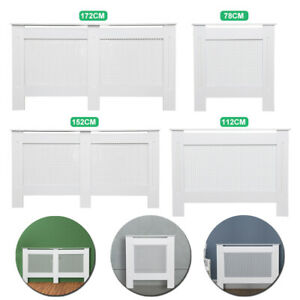 78CM-172CM-Radiator-Cover-Cabinet-Shelf-Oxford-Wooden-Heating-Protector-White