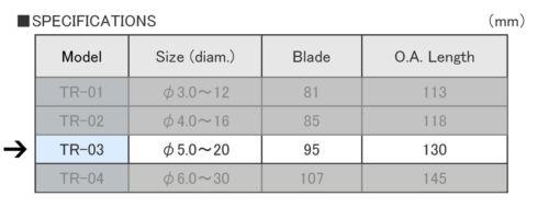 METAL REAMER 5mm-20mm taper hole reamer sharp carbon steel Japan Engineer TR-03
