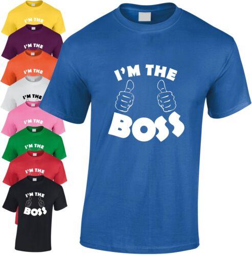 I/'m The Boss Children/'s T-shirt Funny Kid/'s Xmas Gift Cool Birthday Present Joke
