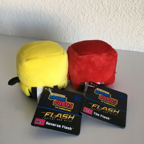 Kawaii Cubes TV Collection DC THE FLASH /& REVERSE FLASH New w//Tags Yellow Red