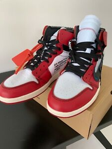 pretty nice 02b99 7e546 Details about Nike Air Jordan 1 ✖️Off White Retro High OG Chicago Sz 10  EUR44