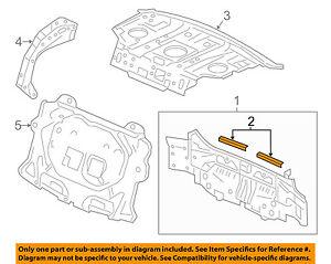 HONDA OEM 13-14 Accord Rear Body-Stiffener 66119T2AA00ZZ
