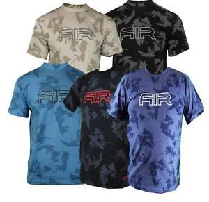 NIKE-AIR-Men-039-s-T-Shirt-in-DARK-BLUE-WHITE-LIGHT-BLUE-amp-BLACK