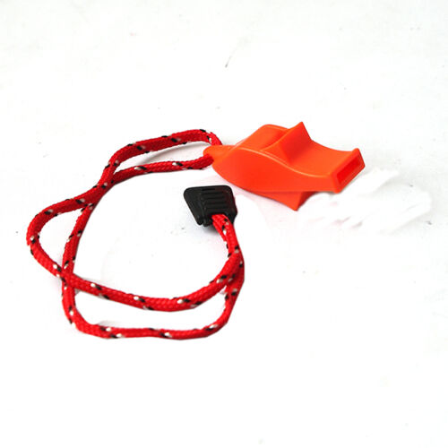 SAFETY SECURITY EMERGENCY WHISTLE WITH LANYARD CAMPING HIKING BOATING */_PTUK