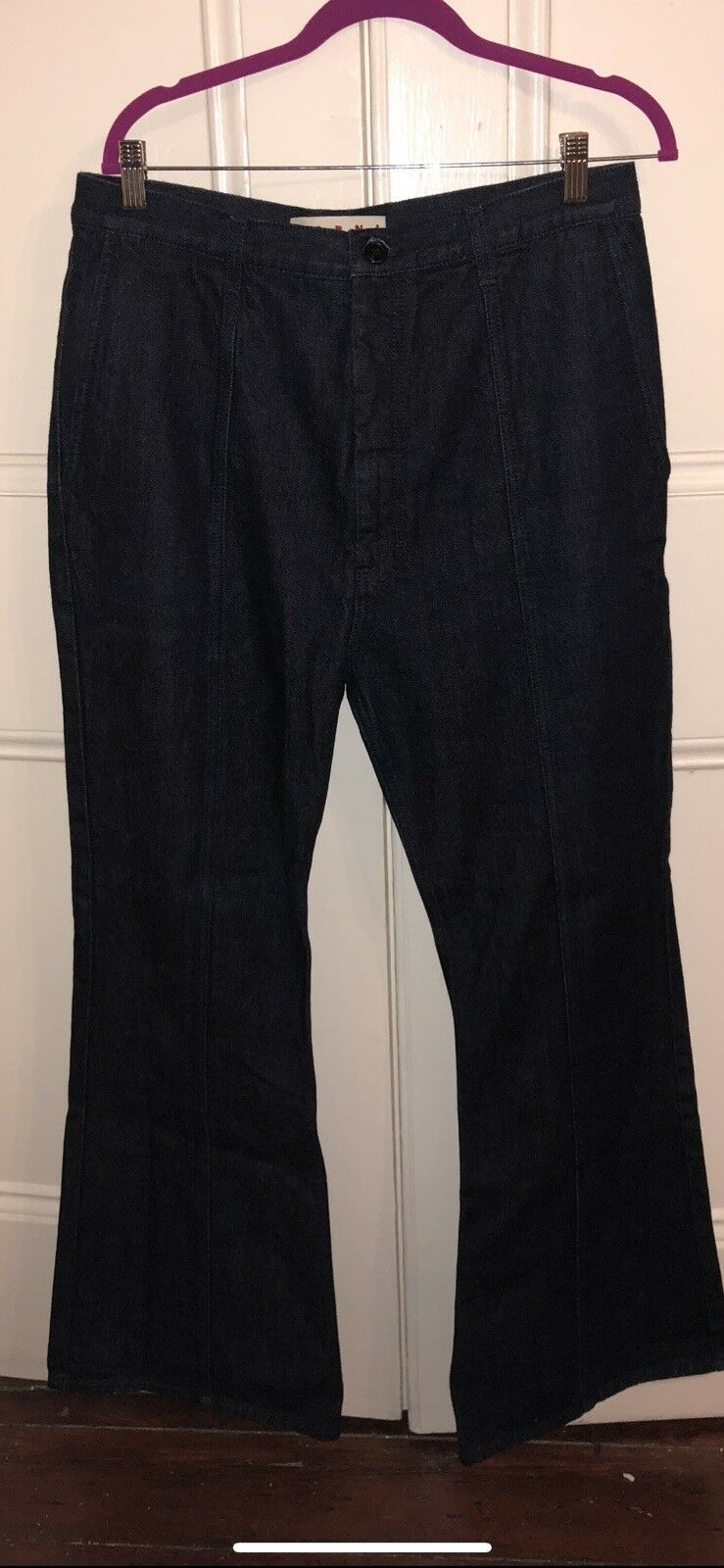 Marni over Wide Leg Flare Denim sz 46 denim jeans  designer
