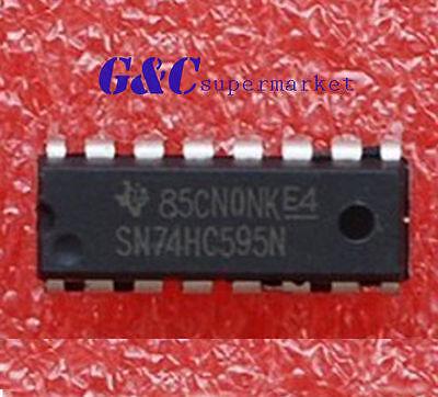 20PCS IC 74HC595 74595 SN74HC595N 8-Bit Shift Register DIP-16  NEW GOOD QUALITY
