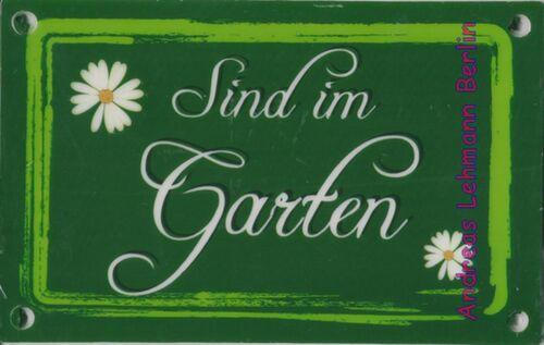 Schild Kunststoff sind im Garten Wetterbeständig Datsche Kleingarten Beet Busch
